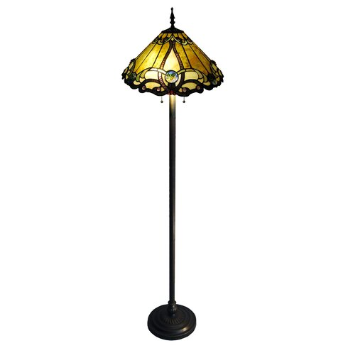 "Chloe Lighting Tiffany Style Victorian 63"" Floor Lamp & Reviews | Wayfair"