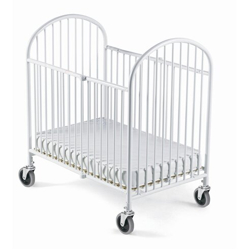 Pinnacle Storable Steel Convertible Crib with Mattress