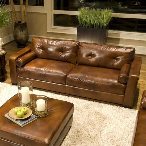 Elements fine home furnishings soho leather sofa reviews for Find home furnishings