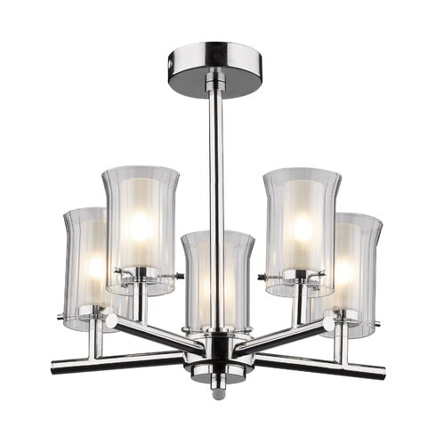 Elba 5 Light Semi Flush Mount