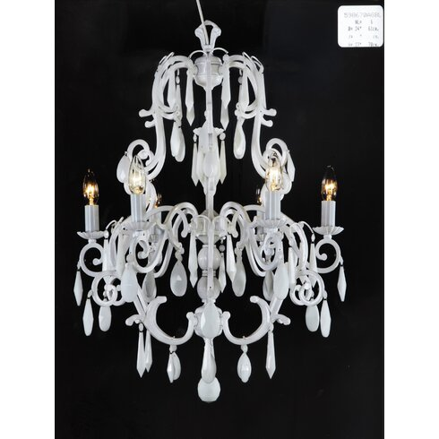 6 Light Candle-Style Chandelier