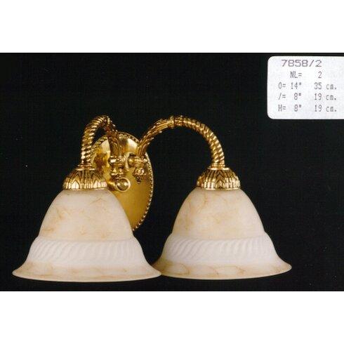 Casted 2 Light Semi-Flush Wall Light