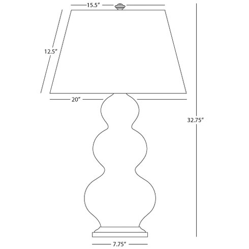 """Triple Gourd Large 32.75"""" Table Lamp"""