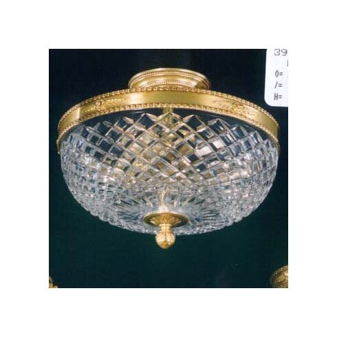 Cut 3 Light Semi-Flush Ceiling Light