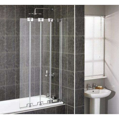 Pura 150 x 85cm Folding Framless Bath Screen