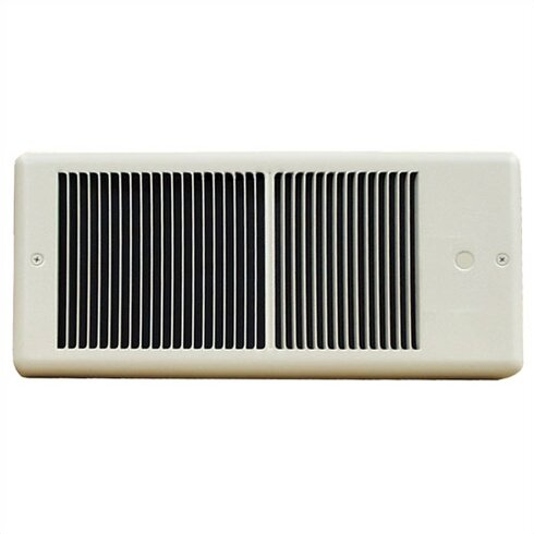 Low Profile Wall Insert Electric Fan Heater with Wall Box