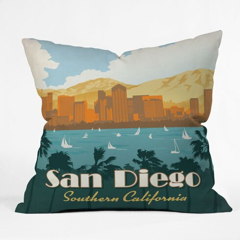 Anderson Design Group San Diego Throw Pillow