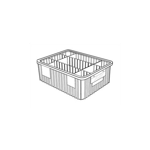 """Dividable Grid Storage Containers (12"""" H x 17 1/2"""" W x 22 1/2"""" D)"""