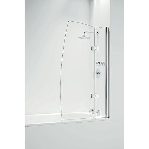 Hinged Bath Screen in 80cm