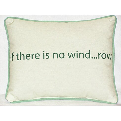 Thoughts for the Day No Wind Indoor/Outdoor Lumbar Pillow