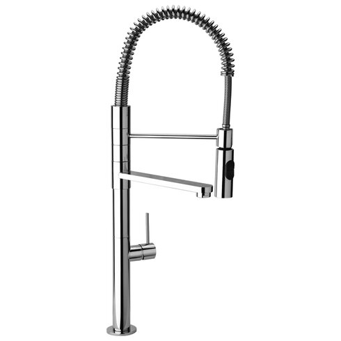 J25 Kitchen Series Commercial Kitchen Faucet with Swivel Spout and Commercial Sprayer