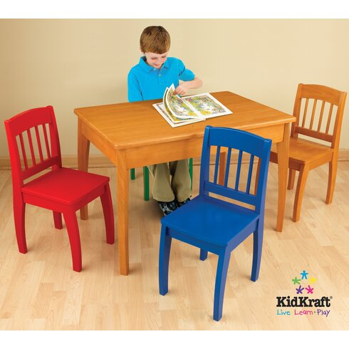 kidkraft euro honey kids 5 piece table and chair set reviews wayfair. Black Bedroom Furniture Sets. Home Design Ideas