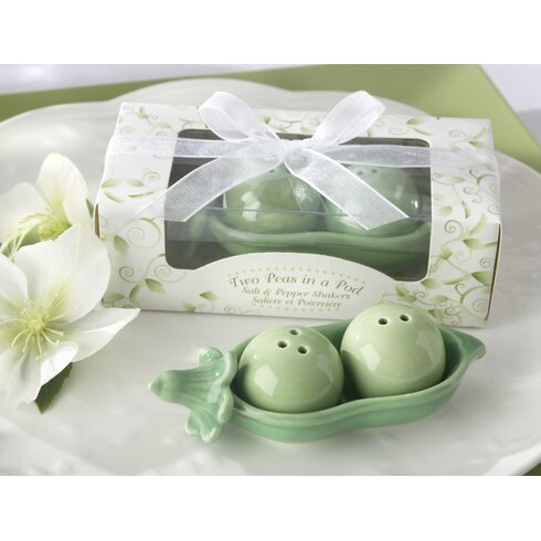 Kate aspen two peas in a pod ceramic salt and pepper shakers in ivy leaf print box reviews - Two peas in a pod salt and pepper shakers ...