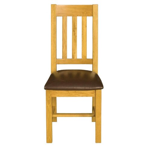 Ortigara Solid Oak Upholstered Dining Chair