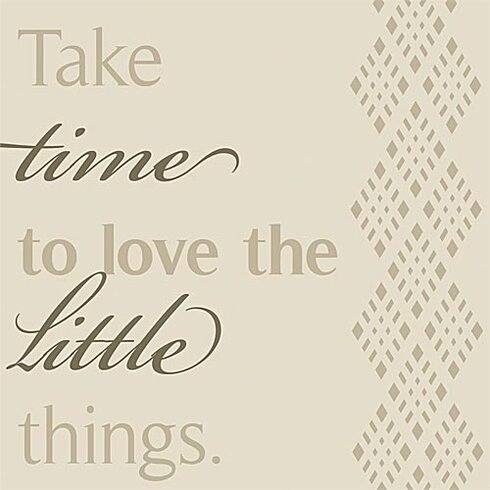 Take Time to Love... Simplicity Textual Art on Canvas