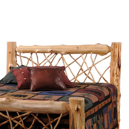 Fireside lodge traditional cedar log wood headboard wayfair Traditional wood headboard