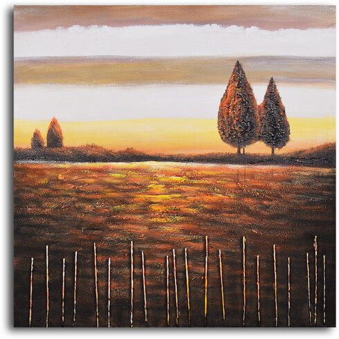 'Beyond the Stick Fence' Painting Print on Wrapped Canvas