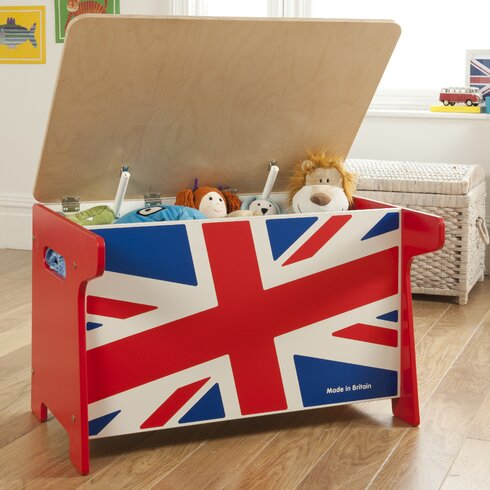 Union Jack Wooden Toy Box