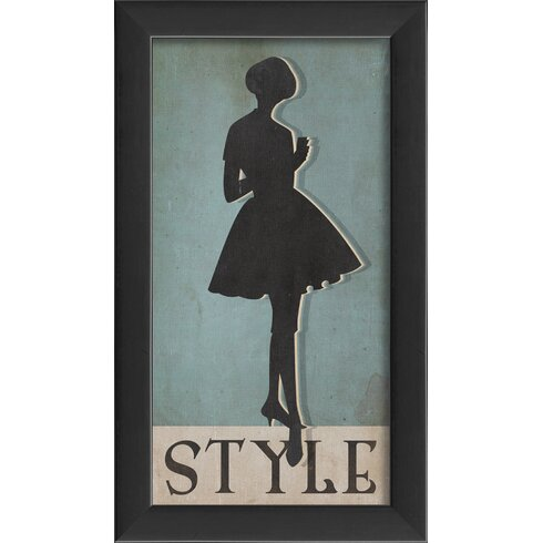 Style Silhouette Small Framed Graphic Art