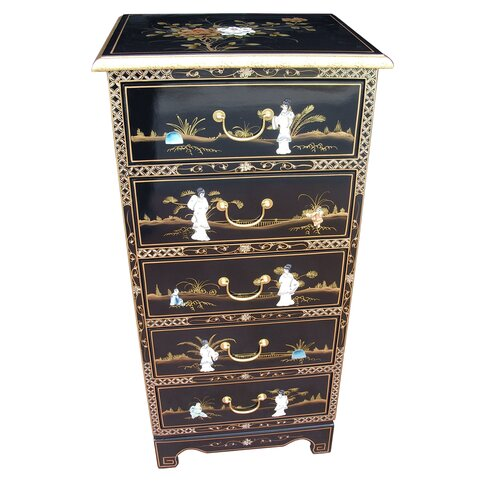 Mother of Pearl 5 Drawer Chest