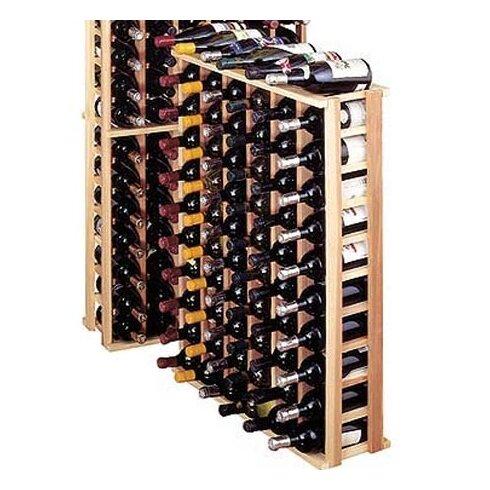 Premium Redwood 66 Bottle Floor Wine Rack