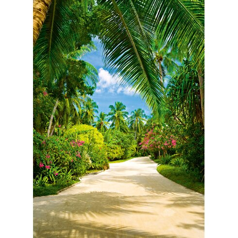 Ideal Decor Tropical Pathway Wall Mural