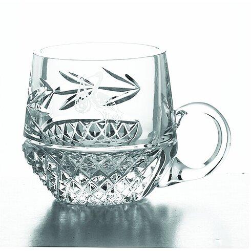 Galway Novelty 8cm Christening Mug in Crystal