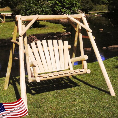 Lakeland Mills Porch Swing With Stand Amp Reviews Wayfair