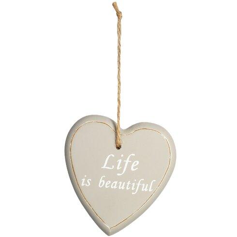 Hanging 'Life' Heart Wall Decor