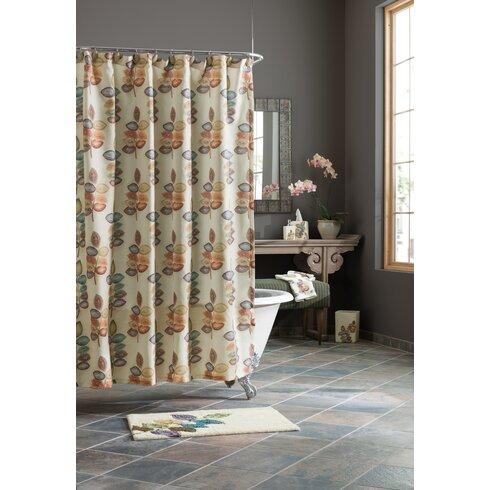 Croscill Mosaic Leaves Shower Curtain Reviews Wayfair