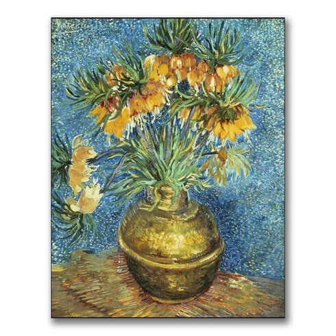 """""""Crown Imperial Fritillaries"""" by Vincent Van Gogh Canvas Painting Print"""