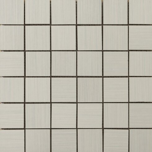 "Strands 2"" x 2/12"" x 12"" Porcelain Mosaic Tile in Pearl"