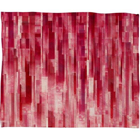 Jacqueline Maldonado Red Rain Throw Blanket