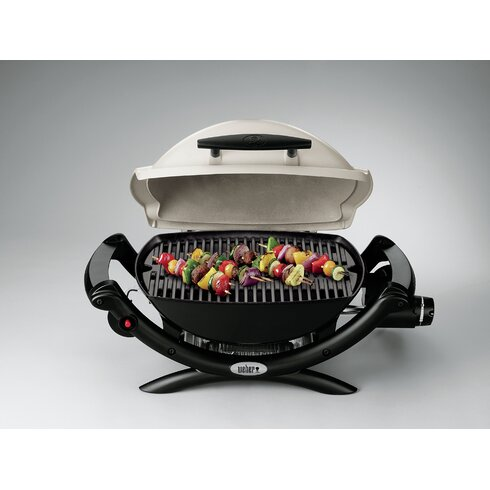 weber q series 1000 propane titanium portable gas grill reviews wayfair. Black Bedroom Furniture Sets. Home Design Ideas