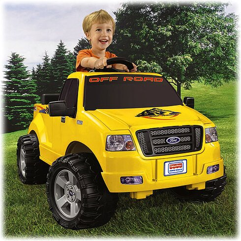 fisher price power wheels ford f150 pickup 6v battery powered car reviews wayfair. Black Bedroom Furniture Sets. Home Design Ideas
