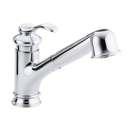 Single Hole Or Three Hole Kitchen Sink Faucet With  Pullout Spout