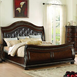 waynesburg upholstered sleigh bed
