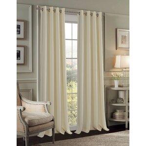 Durrell Velvet Solid Room Darkening Grommet Curtain Panels Set Of 2