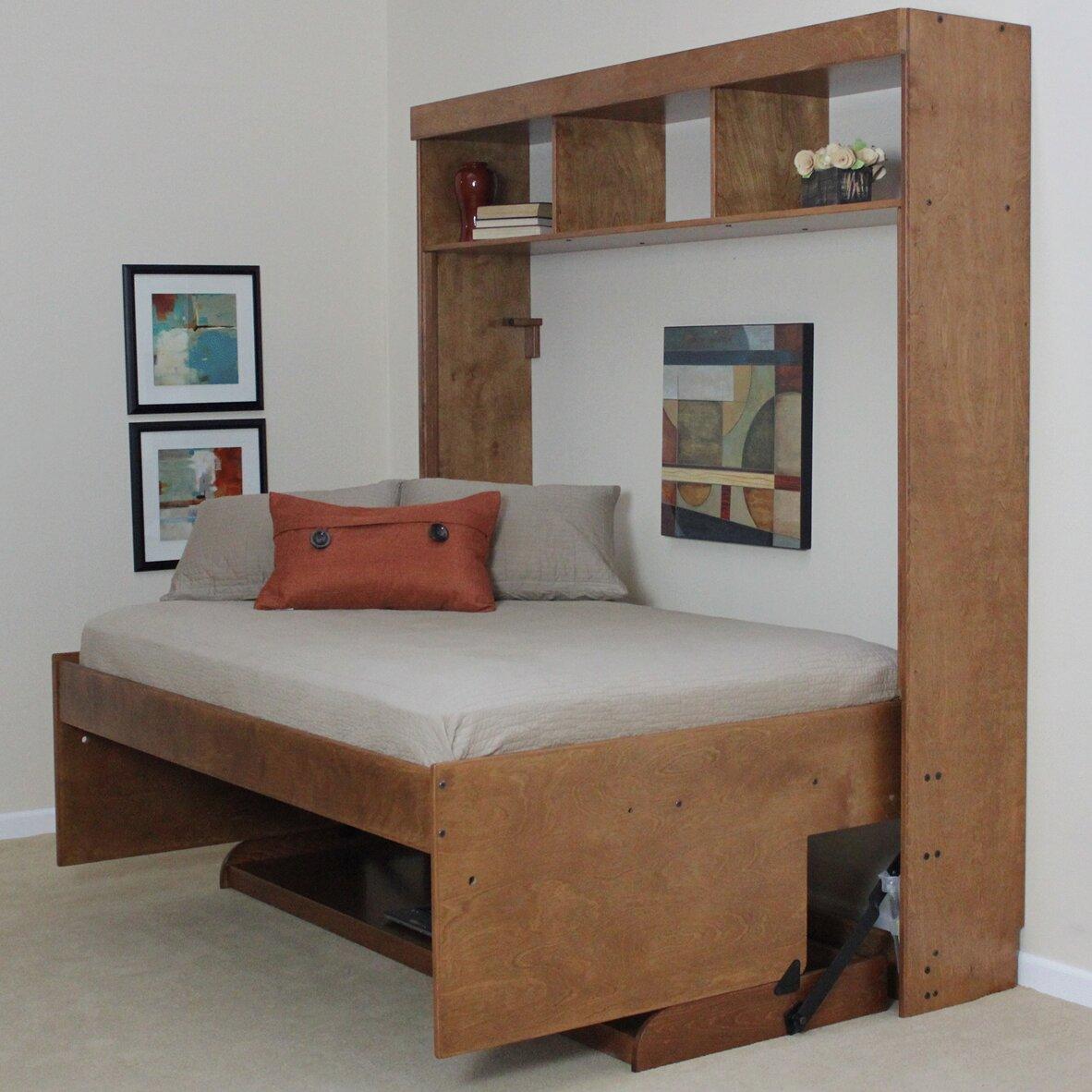 Wallbeds Modern Birch Murphy Bed Amp Reviews Wayfair