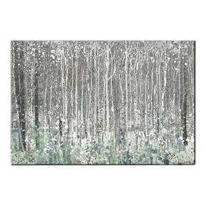 'Watercolour Woods' Framed Watercolour Painting Print on Canvas