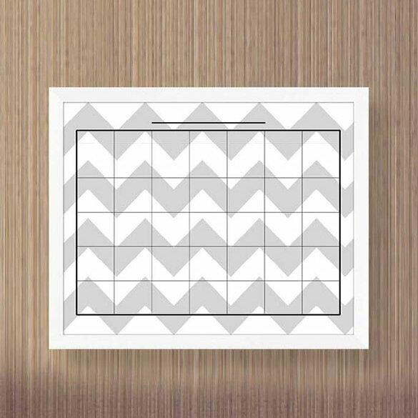 PTM Images Elliott Framed Calendar/Planner Glass Dry Erase Board ...