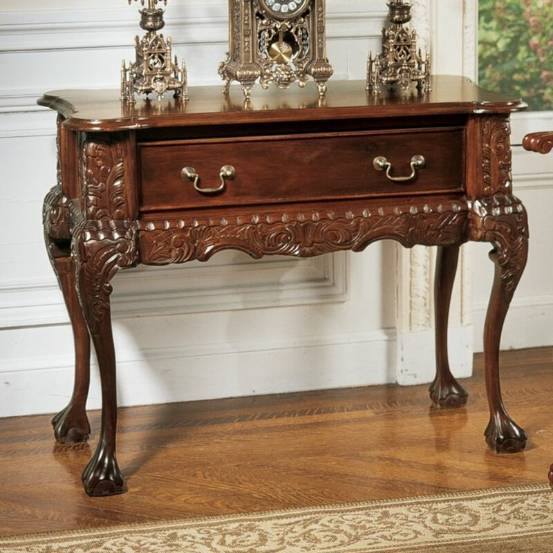 Design toscano swathmore console table wayfair for Transmutation table 85 items
