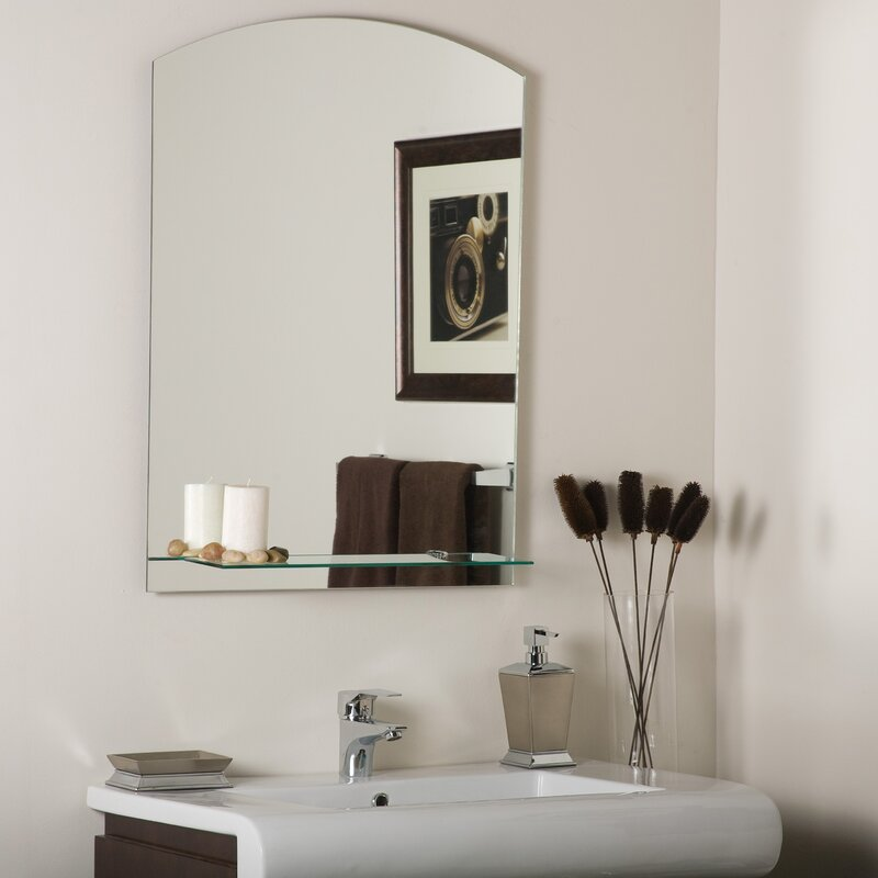 marvelous decor wonderland amelia modern bathroom mirror | Decor Wonderland Arch Frameless Wall Mirror & Reviews ...