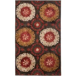Kashmir Brown / Red Rug