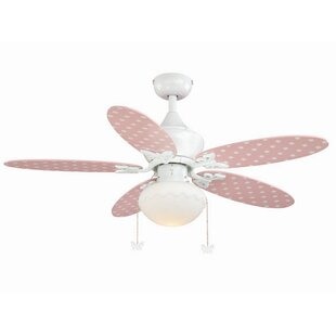 Shabby chic ceiling fan wayfair dupont 5 blade ceiling fan aloadofball Image collections