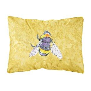 Bee Indoor Outdoor Rectangular Yellow Throw Pillow dbff05409c3c