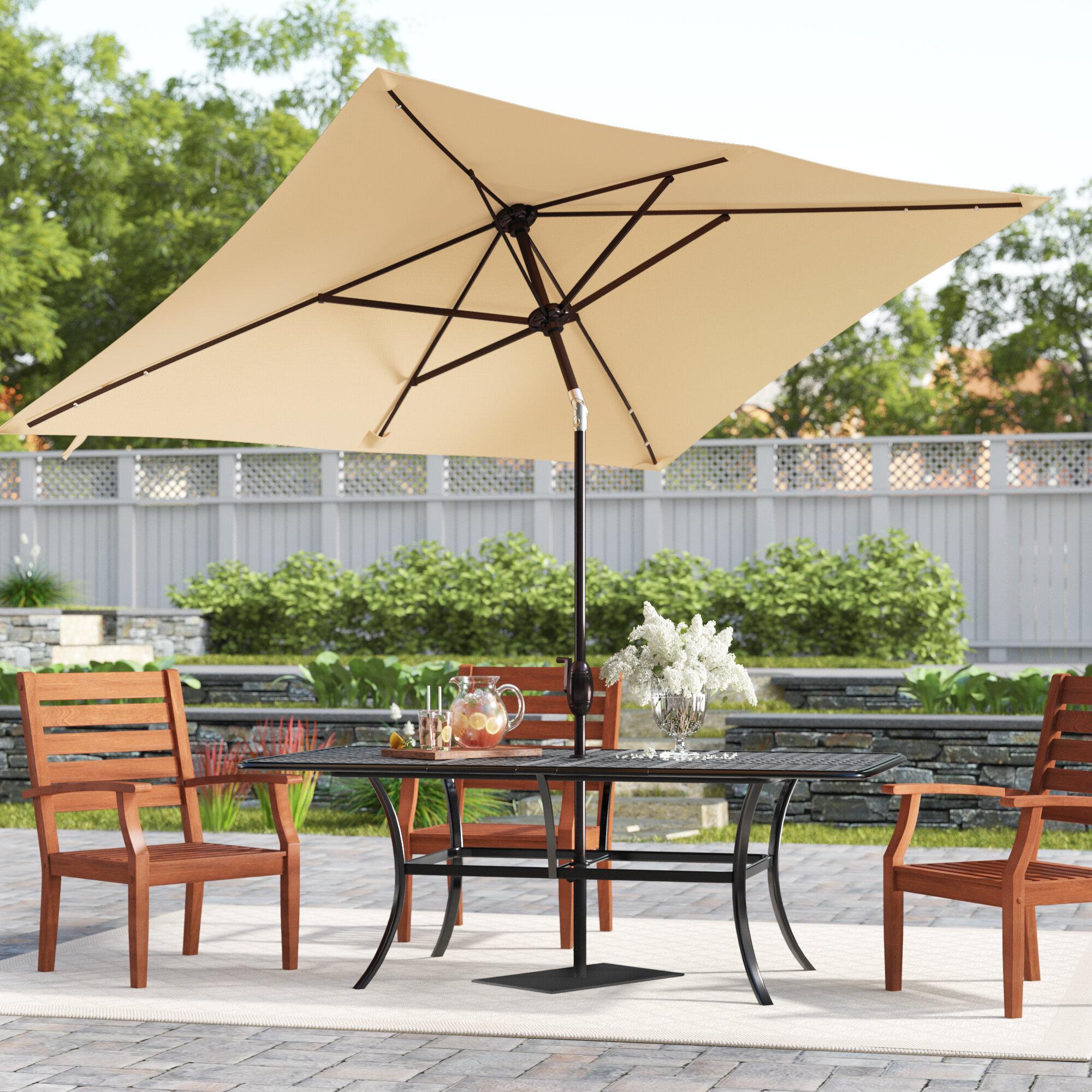 7eeb7e1f3f6d Jerrell 10' x 7' Rectangular Market Umbrella