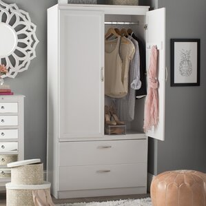 Clothing Armoires Wardrobe Closets Youll Love Wayfair - Bedroom armoire wardrobe closet