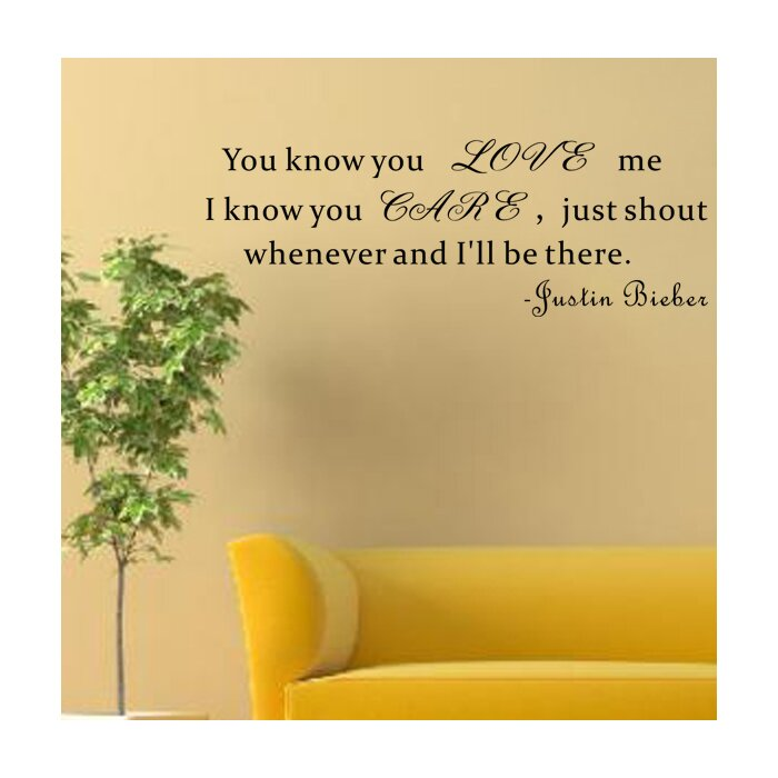 You know you love me wall decal