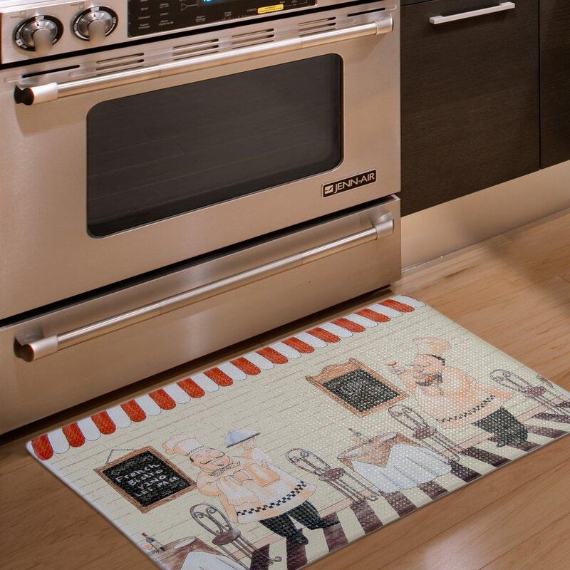Home Fashion Designs Bennett Printed Anti-Fatigue Kitchen Mat ...